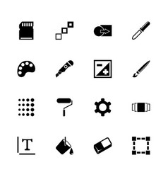 image - flat icons vector image