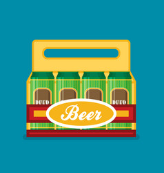 pack of beer cans flat style icon vector image