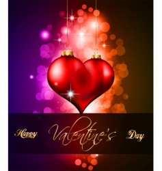 valentines day flyer vector image
