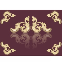 Vintage acanthus red ornament vector