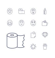 13 yellow icons vector