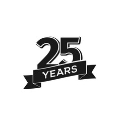 25 years anniversary logotype isolated vector image