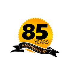 85 years ribbon anniversary vector image