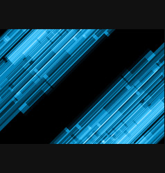 Abstract blue line effect technology vector