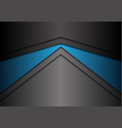 abstract metallic blue gray arrow direction vector image
