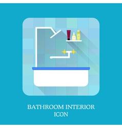 Bathroom interior icon Shampoo and soap vector