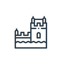 Belem tower icon isolated on white background vector