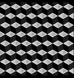 Black and cubes pattern seamless background vector
