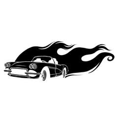 Black gradiented car in white vector