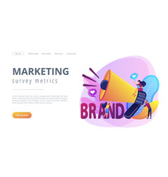 Brand awareness concept landing page vector