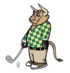 Bull golfer vector