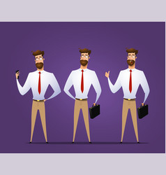 businessman character design vector image
