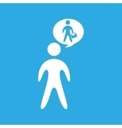 Businessman silhouette with portfolio design vector