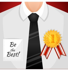 Businessman winner background vector image