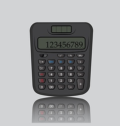 Calculator reflection vector image