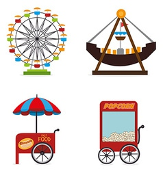 Carnival design over white background vector image