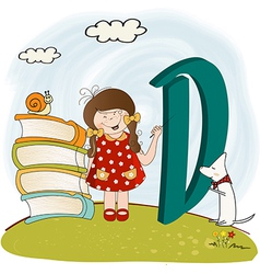 children alphabet letters vector image
