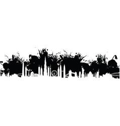 cityscape splash background vector image