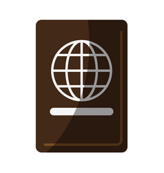 Closed passport icon image vector