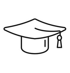 College graduation hat icon outline school vector