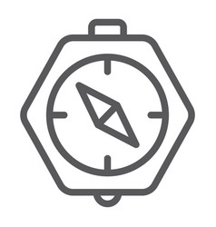 compass line icon geography and direction vector image