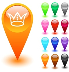 Crown button vector image