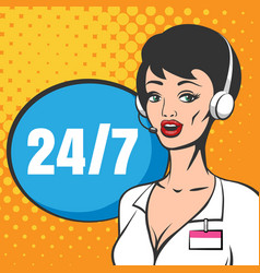 customer service or technical support call center vector image