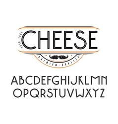 decorative sanserif font with an internal contour vector image