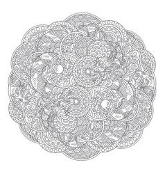 Dragon circle ornament vector