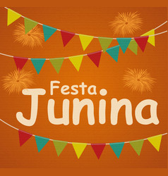 Festa junina holiday background traditional vector
