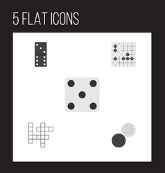 flat icon play set of bones game gomoku chequer vector image