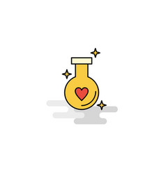 Flat love drink icon vector