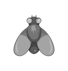 Fly icon black monochrome style vector