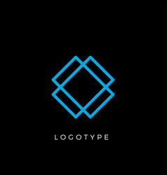 geometric shape letter x line monogram vector image