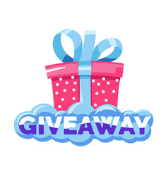 gift box and shopping giveaway social media post vector image