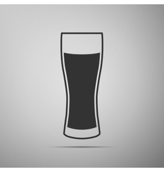 Glass of beer flat icon on grey background Adobe vector