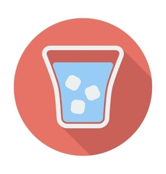 Glass whit ice vector image