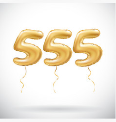 Golden number 555 five hundred fifty five vector
