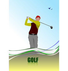 golf player poster vector image
