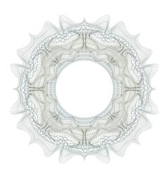 Guilloche decorative element for design certificat vector