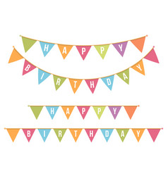 Happy bithday bunting vector