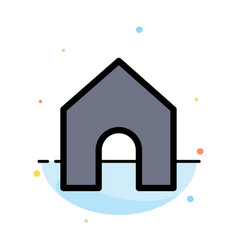 Home instagram interface abstract flat color icon vector