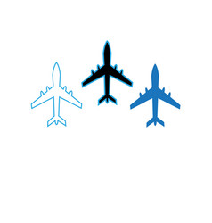 icons flying planes vector image