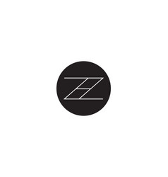 initial letter z h logo template alphabet symbol vector image