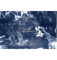 ink marble dark blue texture liquid vector image