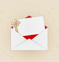 Invitation card with envelope vector