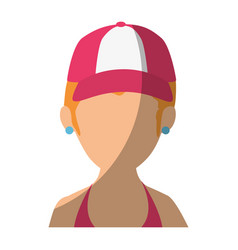 isolated blondie women face vector image