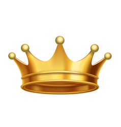 King crown gold vector