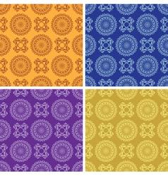 Light and dark vintage seamless patterns vector