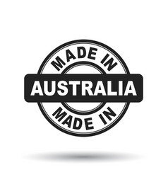 made in australia black stamp on white background vector image